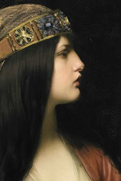 a-little-bit-pre-raphaelite: detail Judith 1892 Jules Joseph. Classic Paintings, Pre Raphaelite, Historical Art, Classical Art, Renaissance Art, Old Art, Portrait Art, Traditional Art, Female Art