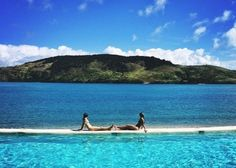 The view from Hamilton Island's Yacht Club Villa pool. Photo credit: Jeremy Somers, We Are Handsome. Villa Pool, Last Holiday, Hamilton Island, Experience Gifts, Luxury Accommodation, Photo Credit, Spirituality, Waves, Boat