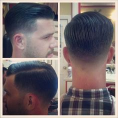 Slick & Clean Style your Hair. Hair Salons located at the Lower Ground Floor and Floor! Mens Hairstyles With Beard, Slick Hairstyles, Hair And Beard Styles, Haircuts For Men, Short Hair Cuts, Short Hair Styles, Hair Barber, Haircut Designs, My Hairstyle