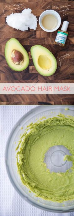 Avocado hair mask. Might be a good idea to try.