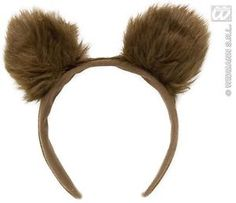 Brown Fluffy Bear Ears Headband Animal Fancydress 2329 | eBay