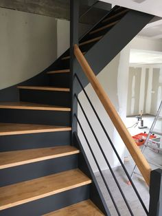 Home Decor > Stairs Interior Stairs, Home Interior Design, Hallway Inspiration, Staircase Makeover, Modern Stairs, House Stairs, Staircase Design, Home Deco, Home Remodeling