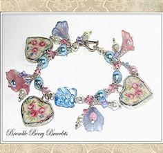 Broken China Bracelet  Vintage Broken by brambleberrybracelet, $47.50