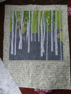 This lush lovely forest quilt was created by Jess from The Eleven Garden.