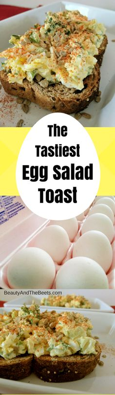 Tastiest Egg Salad Toast by Beauty and the Beets