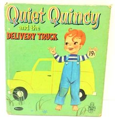 4.95 Quiet Quincy Book Tell a Tale Delivery Truck Whitman Childrens Vtg 1961 # 2615 #QuietQuincy #TellaTaleBooks #Whitman #ChildrensBooks