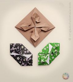 """Let me introduce you today to another beautiful and unusual Origami Tatou (envelope), that you might not have seen so far. It is designed by Mrs. Tomoko Fuse, the master of modern Origami in Japan. The diagram can be found in the book """"Tsuru / Crane Origami"""" (published 2002), p. 62. Update Nov. 2016: I …"""