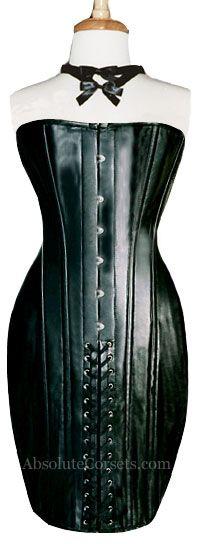 LEATHER CORSET DRESS