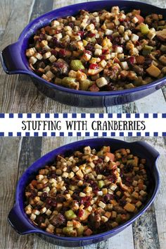 Whether attending a Friendsgiving or hosting Thanksgiving for your new in-laws, this Stuffing with Cranberries & Sausage will help unite the table.