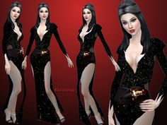 Elvira's Outfit by alin2 at TSR • Sims 4 Updates