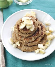 Banana-Oatmeal Pancakes Recipe on Yummly