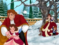 prince adam and belle family - Google Search