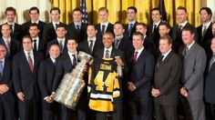 President Obama honored the Pittsburgh Penguins on Thursday at the White House.