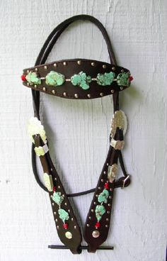 Red Turf Ranch- Custom tack with semi precious stones. Drooling over all the pearl, turquoise, amethyst, and silver studded tack.