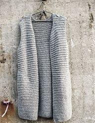 Rillevest uten lommer Diy Fashion, Knitting, Crochet, Sweaters, Vests, Tops, Women, Boleros, Tricot