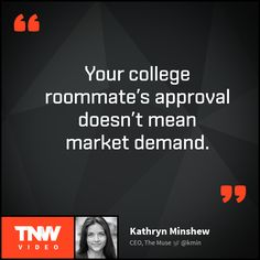 Watch Kathryn Minshew's talk about the lessons she learned as a startup founder on TNW Video