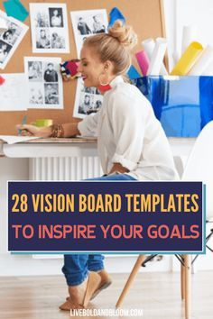 Have you been wanting to create a vision board but you're torn on what design you should use? Check out these free templates Vision Board Template, Digital Vision Board, Self Development, Personal Development, Good Habits For Kids, Passion Quotes, Creating A Vision Board, Successful People, Life Purpose