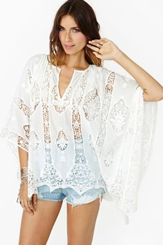 Mosaic Lace Poncho by Whitney Eve