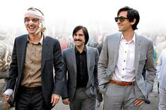 Adrien Brody, Owen Wilson and Jason Swartzman on the set of The Darjeeling Limited, directed by Wes Anderson