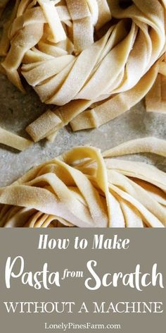 Homemade pasta might seem intimidating, but it doesn't have to be! Fresh pasta is incredibly easy to make with this 2-ingredient tagliatelle pasta recipe. It's simple enough to whip up for a quick… More Quick Weeknight Dinners, Easy Meals, Healthy Meals, Pasta Recipes, Real Food Recipes, Tagliatelle Pasta, Good Food, Yummy Food, Italian Recipes