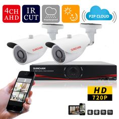 Cheap Surveillance System, Buy Directly from China Suppliers: SUNCHAN HD 720P 1.0MP 1200TVL CCTV System 4CH 1080P FULL 720p Realtime Recording AHD DVR kit 2*720p Outdoor Video Surve
