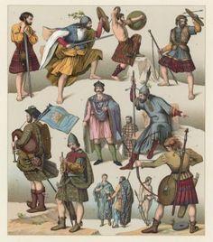 Scotland Costume Fine Art Print by French School