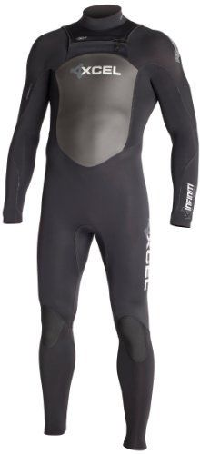 Xcel Men's Infiniti X-Zip 4/3mm Fullsuit with Silver-Ash Logos (Black,2X-Large) by Xcel. $244.78. Often imitated but never duplicated, Xcel's Infiniti X-Zip is the original pioneering front entry fullsuit design. A short water-resistant Interlock zipper on the front upper chest flap keeps the main zipper off your spine and allows for greater flexibility throughout the suit. The front outer zipper flap has contoured SmoothSkin shoulder hems with built-in elastic for...