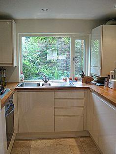 small u shaped kitchen ideas - Google'da Ara