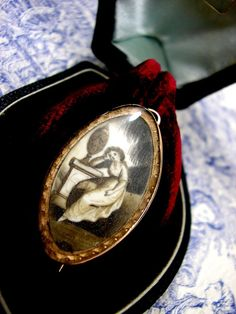 Georgian Mourning Pendant Brooch Rose Gold by KittysJewelryBox, $978.00