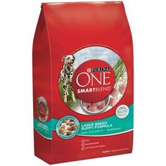 Purina ONE SmartBlend Large Breed Puppy Formula Puppy Premium Dog Food 16.5 lb…