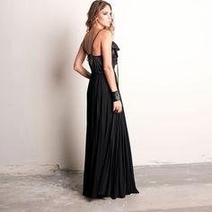 Mix Maxi Dress Black