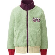 GIRLS UU FLUFFY FLEECE LONG SLEEVE BLOUSON | UNIQLO