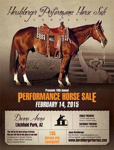 10th Annual Hershberger Performance Horse Sale - Feb. 14, 2015 - Litchfield, Arizona