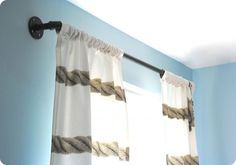 DIY galvanized pipe curtain rod {West Elm inspired}