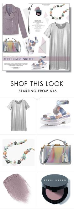 """""""Style Rebecca Minkoff's Spring 2016 Collection"""" by prigaut ❤ liked on Polyvore featuring Rebecca Minkoff, Monki, Glamorous, J.Crew, Sinclair, Mark Cross, Obsessive Compulsive Cosmetics, Bobbi Brown Cosmetics, contestentry and polyvoreeditorial"""