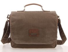 Multi Compartment Organizer Canvas Messenger Bag