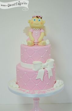 Specialty Cakes — Sweet Cakes by Rebecca Baptism cake