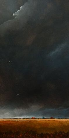 The Darkened Sky No. 2. 15 x 30. acrylic. By Mark Fletcher