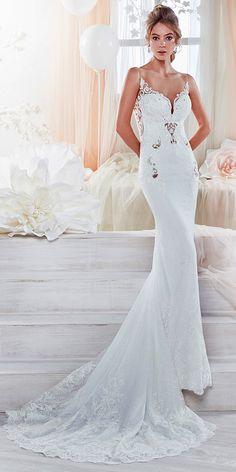 Beautiful And Romantic Nicole Spose Wedding Dresses 2018 ❤ sheath with illusion sweetheart and train nicole spose wedding dresses Full gallery: https://weddingdressesguide.com/nicole-spose-wedding-dresses/