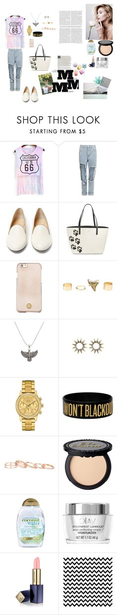 """""""The words that are said, mean something, even if you didn't mean."""" by karina-fiestisova ❤ liked on Polyvore featuring WearAll, Charlotte Olympia, Kate Spade, Tory Burch, Charlotte Russe, Alex and Ani, Lacoste, Kendra Scott, Organix and Estée Lauder"""
