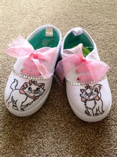 Disney Aristocats Marie Style Canvas Shoes  SPECIAL by Zarahbelle, £15.00