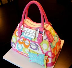 Coach purse cake Girls, I want this cake for my next big bday. You have 2 years to make it happen :)