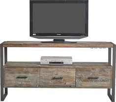 Large wood entertainment center entertainment center with storage industrial rustic reclaimed wood entertainment unit storage with 60 Inch Tv Stand, 60 Tv Stand, Tv Stand Designs, Solid Wood Tv Stand, Cool Tv Stands, Entertainment Center Decor, Furniture Deals, Furniture Outlet, Online Furniture