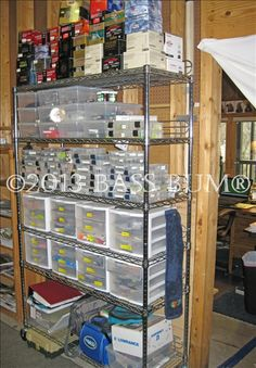 Fishing Tackle Gear - A Fishing Man Cave - Fishing Tackle Storage Systems