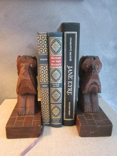 Bookend Set of Scottie Dogs with Glass Eyes  by WhatsOnTheShelf, $20.00