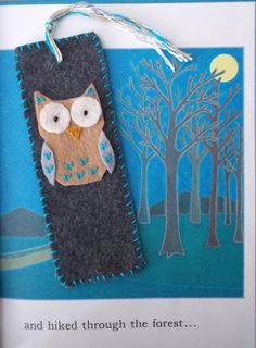 Felt Owl Bookmark by MoonbeamsMuchness on Etsy, $4.00