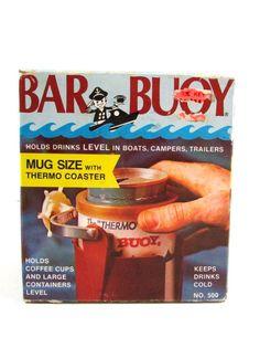 Vintage 1973 Bar BUOY Mug Size Drink Holder Thermo Coaster Boats Campers Trailer #BarBuoy #Boating #Fishing #Camping #Coaster #FathersDay