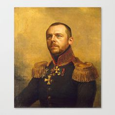 Simon Pegg - replaceface Canvas Print by Replaceface - $85.00