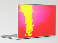 laptop and ipad cover. fabulous! ~ colorful ~ hot pink and yellow ~ computer ~ art ~ bright & beautiful.