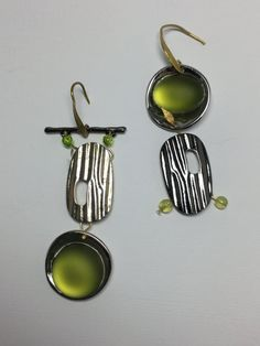 Your place to buy and sell all things handmade Green Earrings, Drop Earrings, Vinyl Cover, Gift Packaging, Gift Tags, Jewelry Collection, Greenery, Resin, Pouch